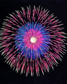 Multi-colour burst firework