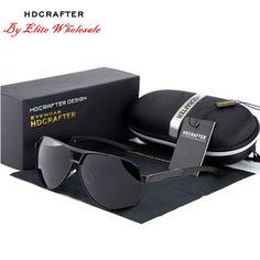 8caaf908e7c4 Details about HDCRAFTER HDABS Unisex Sunglasses Pilot Polarized Sunglasses