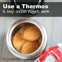Non-Sandwich Lunch Ideas - How to Keep Chicken Nuggets Warm in School Lunchbox