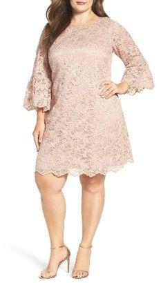 Shop Now - >  https://api.shopstyle.com/action/apiVisitRetailer?id=608322278&pid=uid6996-25233114-59 Plus Size Women's Eliza J Lace Shift Dress  ...