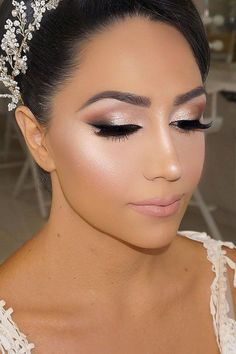 Bright Wedding Makeup Ideas For Brunettes ❤ See more: www. Bright Wedding Makeup Ideas For Brunettes ❤ See more: www.weddingforwar… Bright Wedding Makeup Ideas For Brunettes ❤ See more: www. Wedding Makeup For Brunettes, Wedding Makeup Tips, Wedding Makeup Looks, Bridal Hair And Makeup, Hair Makeup, Wedding Beauty, Wedding Hair And Makeup Brunette, Bridal Smokey Eye Makeup, Bridal Makeup Natural Brunette