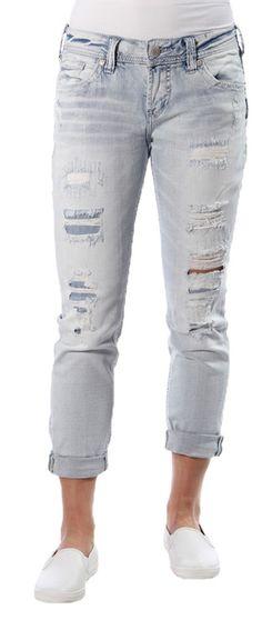 Boyfriend Jeans in Indigo by Silver Jeans Company