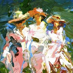 Afternoon Stroll after Edward Henry Potthast, painting by artist Sally Cummings Shisler