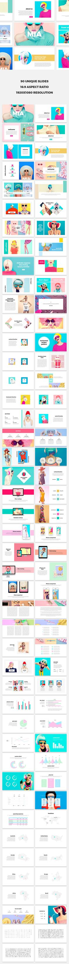 Mia is a cute, simple and impressive presentation template for both PowerPoint and Keynote. It is prepared with a strong fashion theme but thanks to its high functionality and easily editable structure you can use Mia for any field you like. Created by @SlideStation on @Creativemarket
