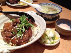 牛タン丼定食, 牛たん炭焼 利久, 利久, 池袋店, 東京, 日本, Dinner, Tokyo, Japan