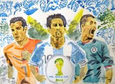 """""""FEVER OF FOOTBALL"""" #Creative #Art in #painting @Touchtalent"""