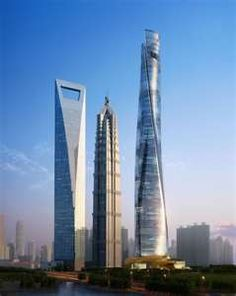 Shanghai World Financial Center - located in the Pudong district of Shanghai, China. It towers over all other structures in Eastern China, dominating the skyline. It was designed by Kohn Pedersen Fox and developed by Mori Building. It is a mixed-use skyscraper, consisting of offices, hotels, conference rooms, observation decks, and ground-floor shopping malls.