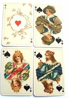 Vintage Playing Cards B Dondorf Frankfurt NO 187 Stunning Courts Decorated Aces | eBay