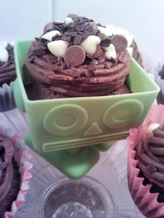 Super chocolatey robo-cake!