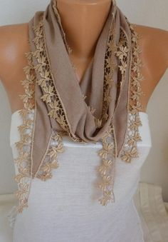 Items similar to Beige Knitted Triangular soft Scarf,shawl, Necklace,Gift Ideas For Her, Women Fashion Accessories Women Scarves on Etsy Women's Summer Fashion, Boho Fashion, Fashion Outfits, Womens Fashion, Fashion Design, Fashion Tips, Fashion Ideas, Fashion Group, Bohemian Accessories