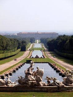 """Caserta Royal Palace --extravagant whimsy of the Bourbons.  1200 rooms!!  Rooms filled with golden statuettes, chandeliers etc.  Bob Mize jokingly said, """"We could get the same effect with a couple of cans of gold spray paint!!"""""""