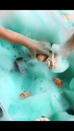 Sea foam messy play