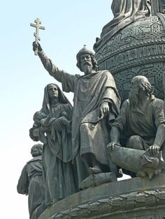 "Vladimir of Kiev on the Monument ""Millennuim of Russia"" in Veliky Novgorod, Russia"