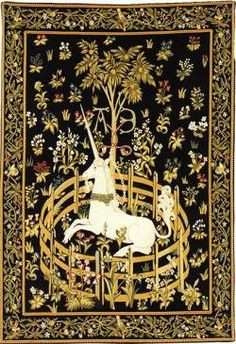 Picture of Captive Unicorn Medieval Tapestry Wall Hanging