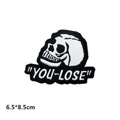 New to craftapplique on Etsy: you lose patch embroidered patch iron on patches iron on patch sew on patch (6.99 USD)