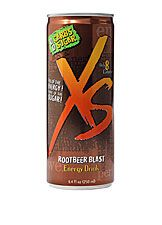 Root Beer flavored XS Energy Drink. vitamin energy drink 0 carbs 0 sugar and only 8 calories.