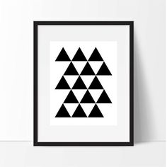 Triangles Geometric Print Printable Poster 8 by MakingThingsHappen