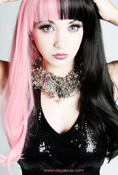 Want this Pink and Black Hair
