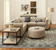 Gordon Sectional Sofa - Chesterfield Sectional - Tufted Sectional ...