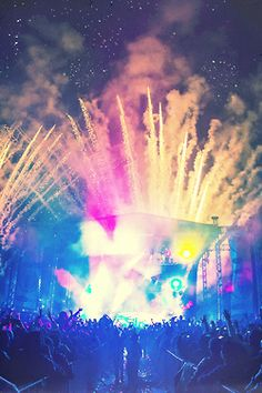rave party, concerts and lights.