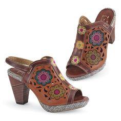 Handpainted Medallion Shoes - Women's Clothing & Symbolic Jewelry – Sexy, Fantasy, Romantic Fashions