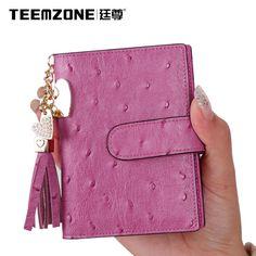 Women Genuine Leather Snap Name ID Credit Card Keeper Organizer PVC 20 Slots #teemzone