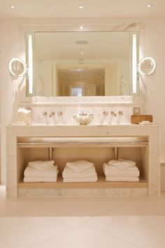 beautiful but personally don't like the way the makeup mirrors are installed...sink / vanity is very fab