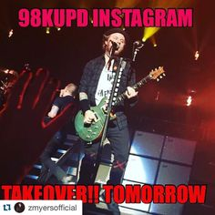 #Repost @zmyersofficial: Hey!!! I'm taking over @98kupd's Instagram tomorrow .... You should check out. (Mostly gonna post my butt and nip regions) ... #shinedown #98kupd