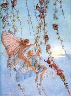 Like sunshine on fairy wings, many things glitter more brightly than gold.  Art by Margaret Tarrant.