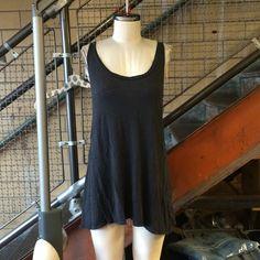 Dark grey knit dress Zara knit dark grey racer back dress Zara Dresses Mini