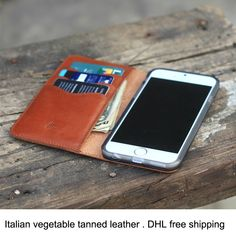Leren iPhone hoesjes vind je bij ons! - #leather iphone case italian | book style leather phone cover for iphone 6,Italian vegetable tanned leather phone case,for iphone 6 mobile phone wallet - http://ledereniphonehoesjes.nl/slimme-iphone-6-hoesjes/