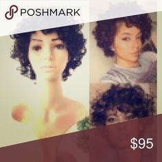 Selling this Short human hair wig on Poshmark! My username is: princezzz4242. #shopmycloset #poshmark #fashion #shopping #style #forsale #Accessories