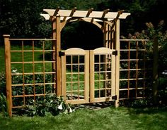 gathering ideas for the new garden fence, like this gate/arbor