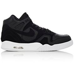 Nike Men's Air Tech Challenge II Laser Sneakers ($140) ❤ liked on Polyvore  featuring men's fashion, men's shoes, men's sneakers, black, mens lace up  shoes, ...