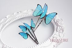 Blue butterfly hair pin, blue butterfly hair jewelry, handmade butterfly, exotic butterfly, bridal jewelry, wedding jewelry, gift for her by TreasureAM on Etsy https://www.etsy.com/listing/210683606/blue-butterfly-hair-pin-blue-butterfly