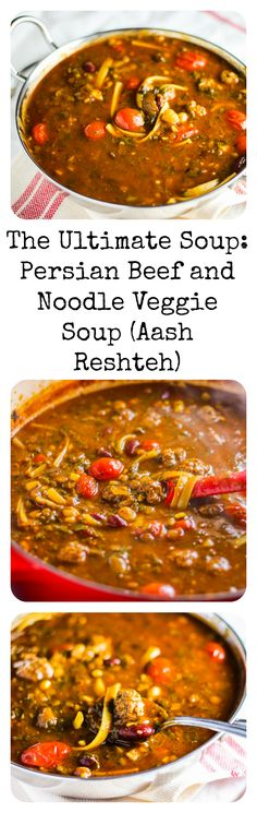 Perfect for a chilly day, this delicious, nutritious, and hearty Persian Beef and Noodle Veggie soup will nourish you from the inside out!