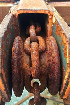 All sizes | Rusted Pulley | Flickr - Photo Sharing! Rust Never Sleeps, Rust In Peace, Aging Metal, Peeling Paint, Rusted Metal, Rust Color, Pulley, Texture, Decay