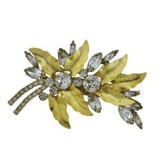 Jennifer Behr Crystal Gold Aspen Barrette
