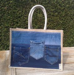 Re-used Jeans Ah tas gepimpt -Hip Homemade