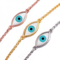 Mother of Pearl Evil Eye Bracelet