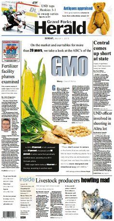 March 1, 2015 #GrandForksHerald #Newspaperdesign #Frontpage #JanelleVonasek