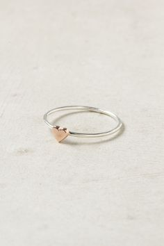 Wee Heart Ring, Rose Gold. So sweet! (via Anthropologie)