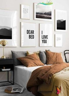 Dear Bed I Love You No1 Poster  <br>