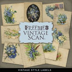 Freebies Kit of Vintage Style Labels