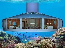 Underwater house.  Amazing!