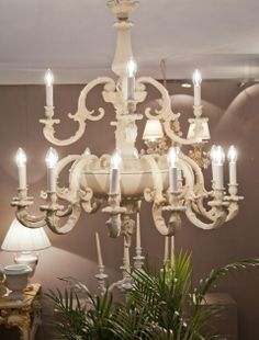 Porcelain Chandelier, 21989/16  ivory background color