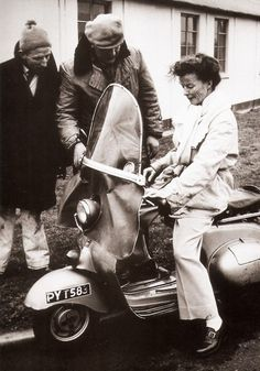 Steve is a research genius, he tracked down the Vespa Katherine Hepburn is riding in the photo I posted, and what movie she was working on Clive Owen, Ursula Andress, Anthony Perkins, Gina Lollobrigida, Kirk Douglas, Katharine Hepburn, Ingrid Bergman, Ella Fitzgerald, Paul Newman