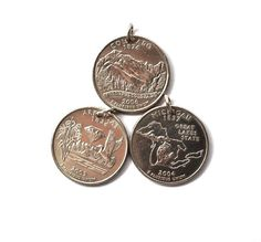 U.S. State Quarter Dollar Coin Necklace Arkansas by Hendywood