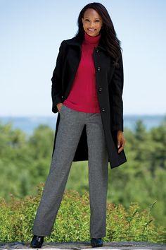 Classic 3/4 Length Wool Coat