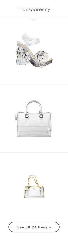 """Transparency"" by iamdelphine ❤ liked on Polyvore featuring bags, handbags, purses, prada, bolsas, top handle purse, clear purse, prada handbags, hand bags and locking purse"